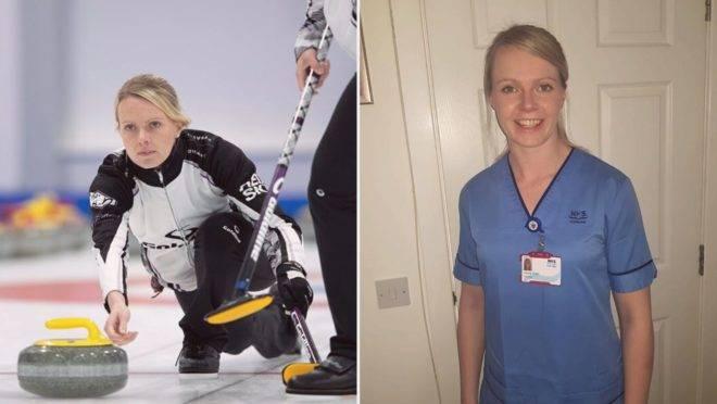 Atleta abandona treinos para Jogos Olímpicos de Inverno e volta a atuar como enfermeira durante pandemia