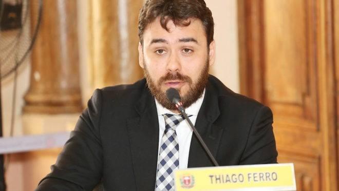 Vereador Thiago Ferro vai tentar a reeleição.