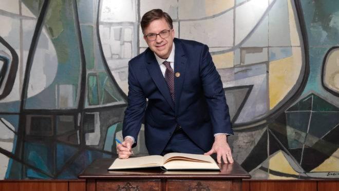 O novo embaixador dos Estados Unidos no Brasil, Todd Crawford Chapman.
