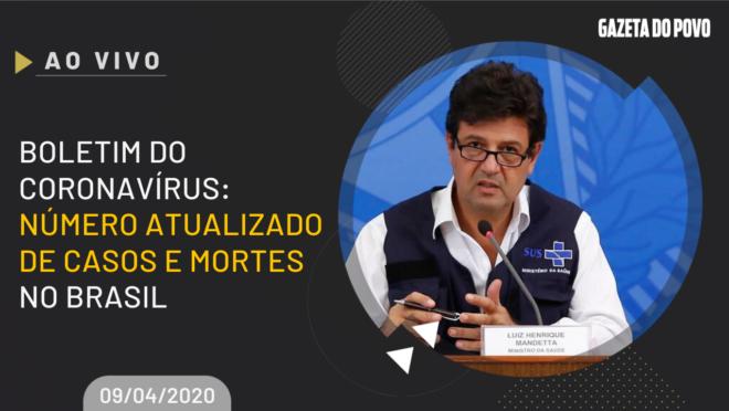 Após recorde de mortes em um dia da COVID-19, ministro da Saúde Henrique Mandetta e secretários mostram evolução de casos e mortes do coronavírus no Brasil.