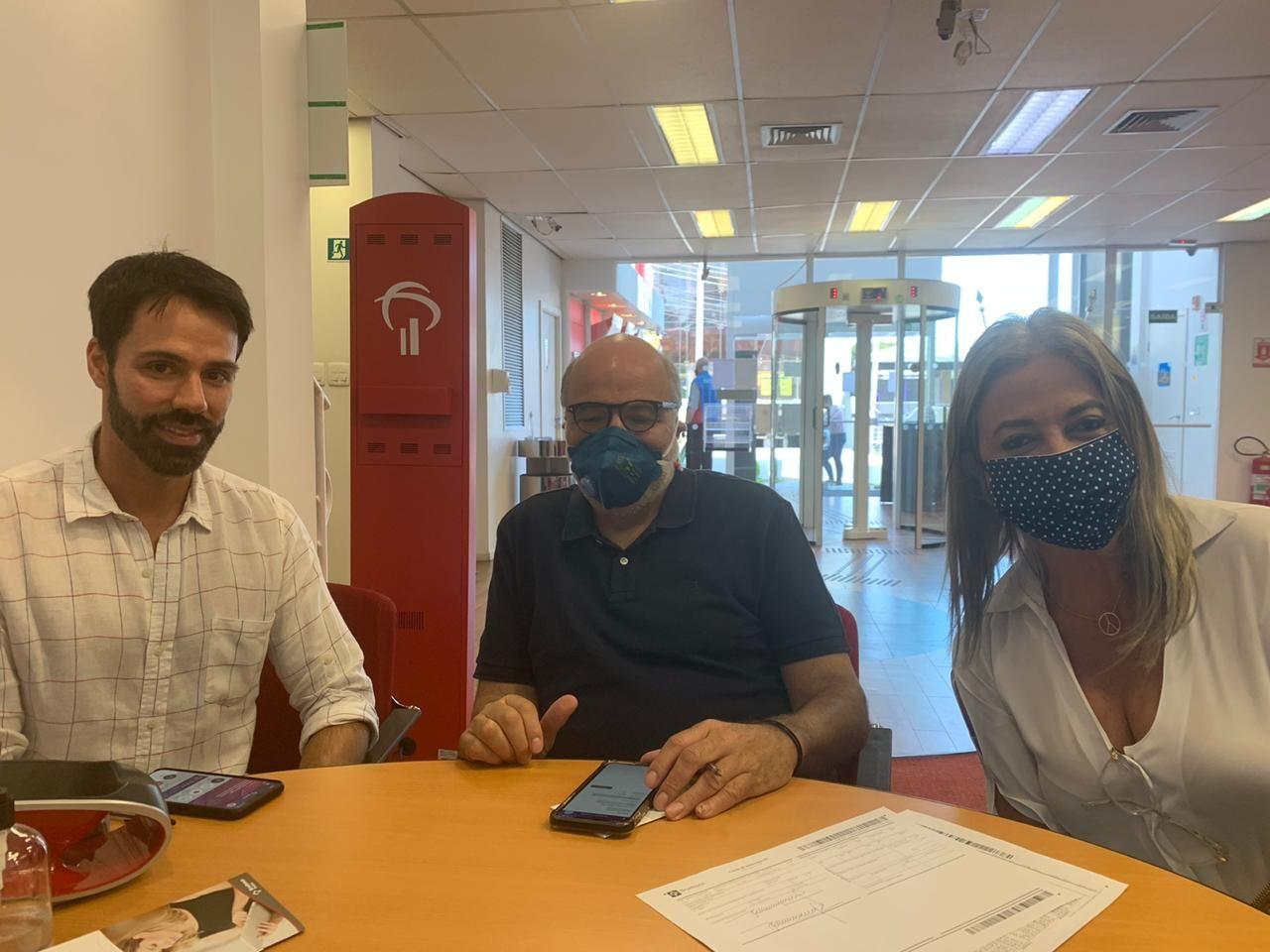 Jorge Elmor, Jayme Bernardo e Elaine Zanon encabeçam a campanha. Foto: Divulgação
