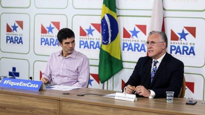 Governador Helder Barbalho e Alberto Beltrame.