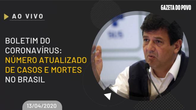 Boletim COVID-19: ministro da Saúde Henrique Mandetta e secretários mostram evolução de casos e mortes do coronavírus no Brasil.