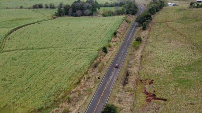 Rodovia próxima a Salto Caxias