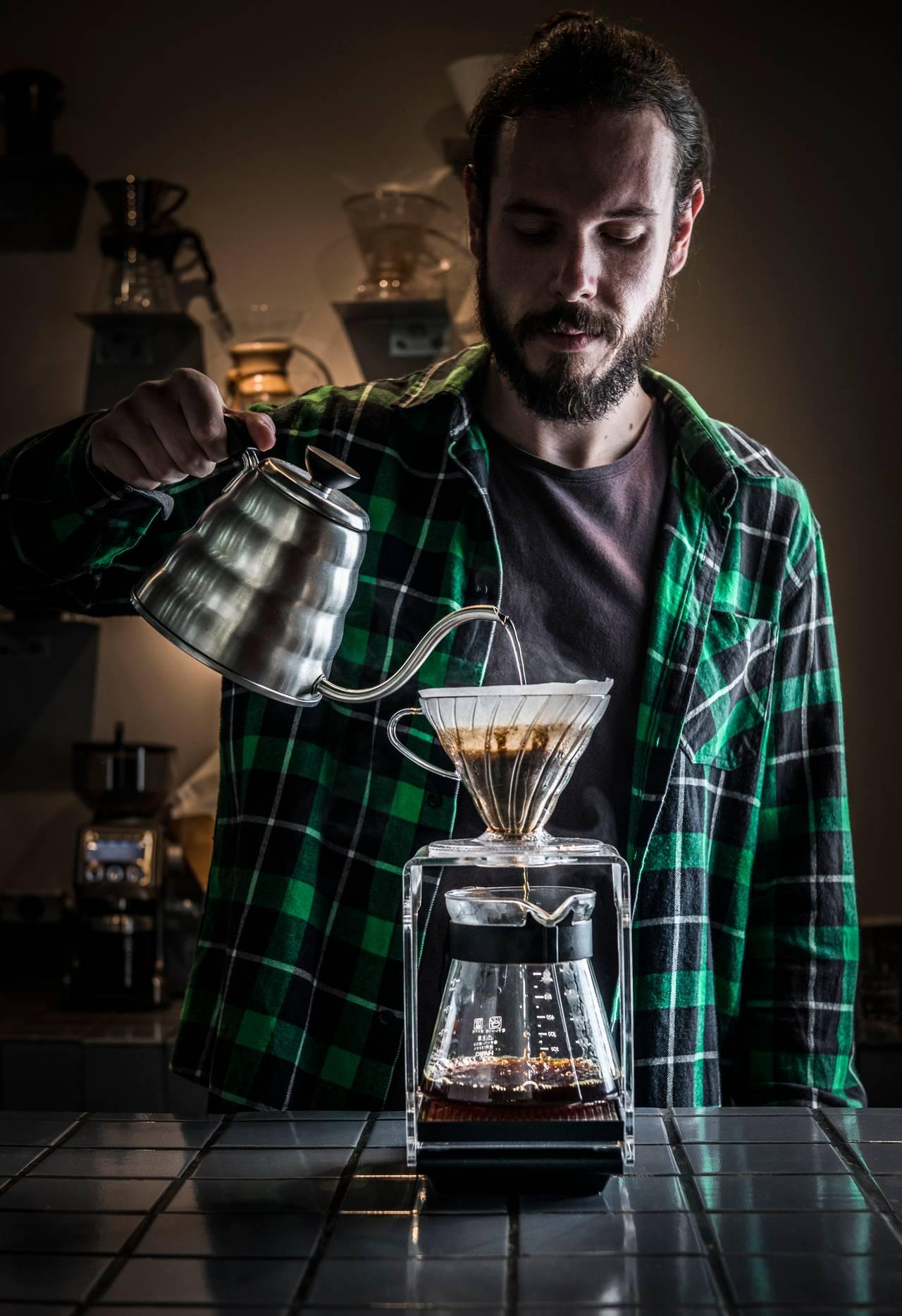água para café