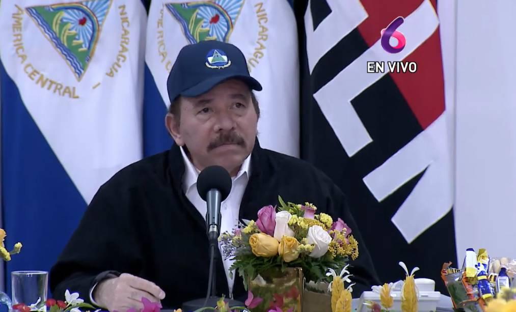 O ditador da Nicarágua, Daniel Ortega, em aparição em rede nacional após 34 dias de ausência. Reprodução / Captura de tela / La Prensa