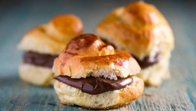 Sanduiche de Nutella feito com pão brioche