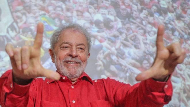 O ex-presidente Lula em evento do PT, em 2019.