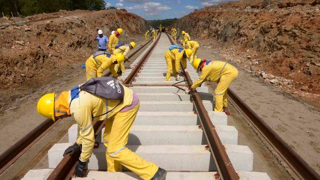 Governo quer estimular obras de infraestrutura com verba pública no programa Pró-Brasil. Na imagem, registro da obra daferrovia Transnordestina.