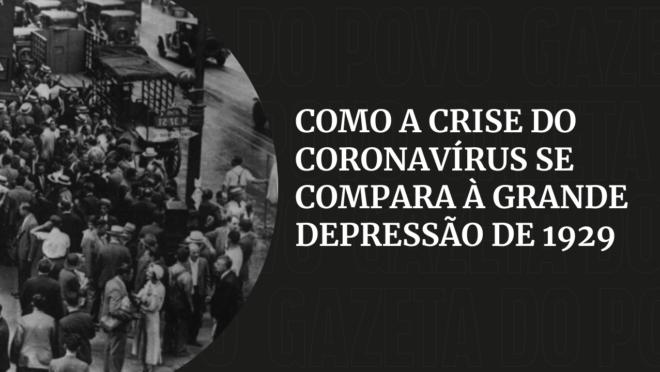 A crise do coronavírus e a maior depressão da economia mundial