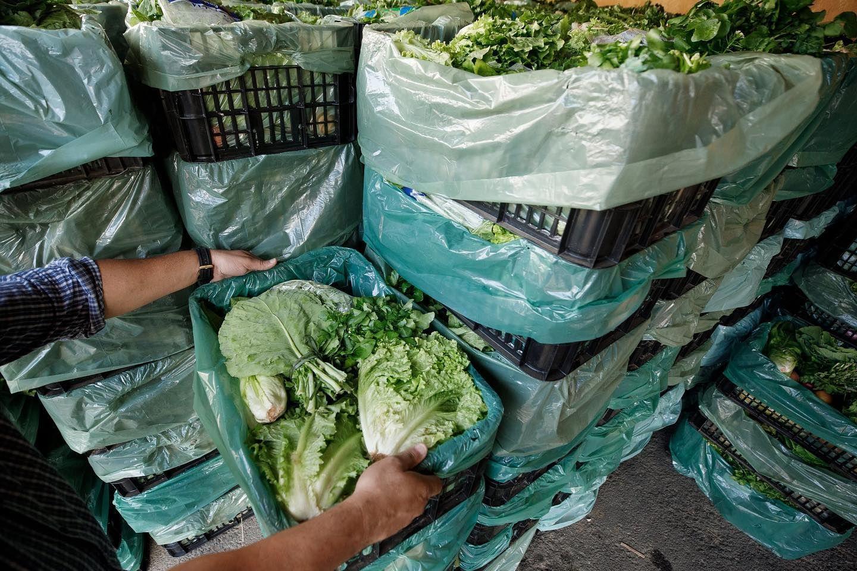 Cesta de produtos naturais de agricultores do Cinturão Verde. Foto: Reprodução/Facebook