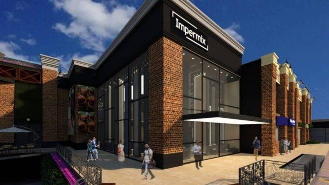 Fachada da nova loja da Impermix no Jardim Social, que será a primeira Boutique Diamante Portinari de Curitiba