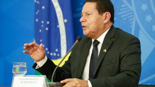 O vice-presidente da República, Hamilton Mourão.