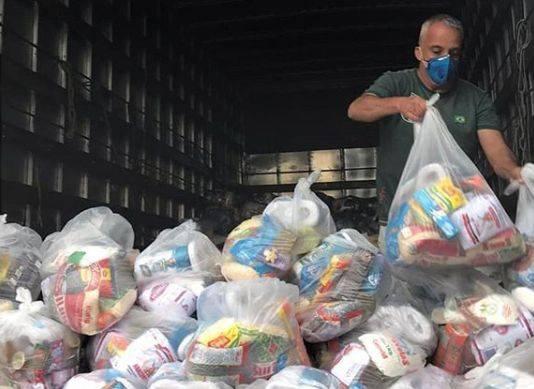 Desde o início da ação, 61 toneladas de alimentos já foram distribuídas. Foto: Juntos Somos Mais Arq PR / Divulgação