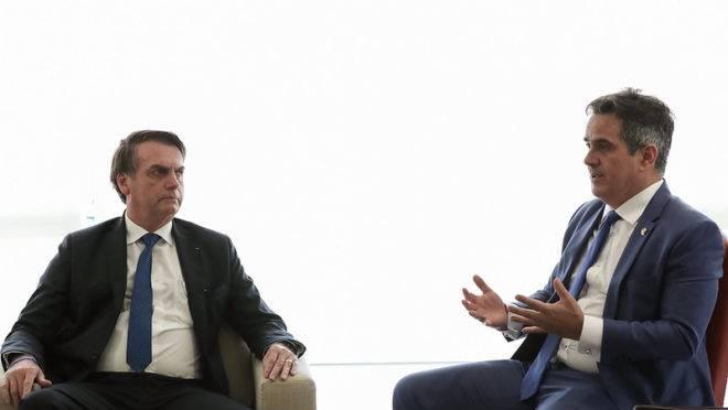 O presidente Jair Bolsonaro e o senador Ciro Nogueira (PP-PI), um dos líderes do Centrão, durante audiência em 2019.