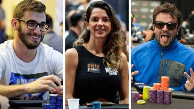 Pedro, Dayane e Vitor. Exemplos de ótimos jogadores de poker paranaenses. Fotos: Party Poker e BSOP.