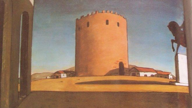 Giorgio de Chirico – A Torre Vermelha (La tour rouge) – 1913 – óleo sobre tela – 73.5 x 100.5 cm – Peggy Guggenheim Collection