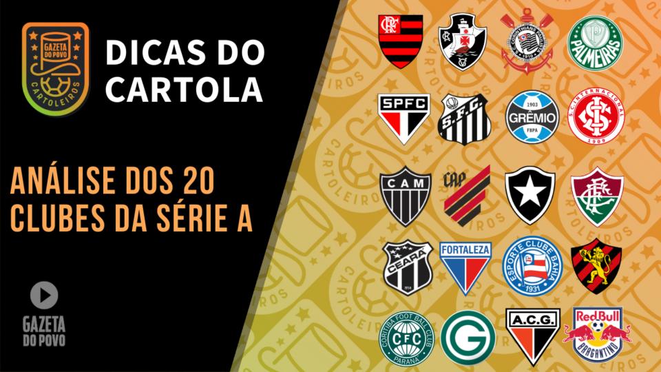 Dicas do Cartola FC 2020: os destaques de todos os clubes
