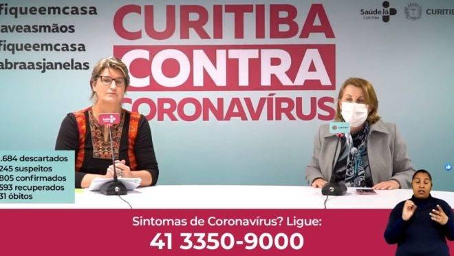 Médica infectologista e secretária da saúde atualizam casos da Covid-19 em Curitiba.