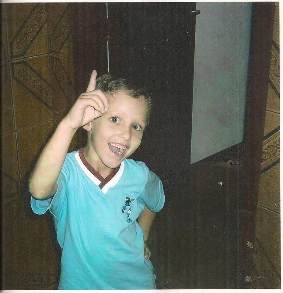 """O pequeno sempre foi muito """"arteiro"""" e carinhoso"""