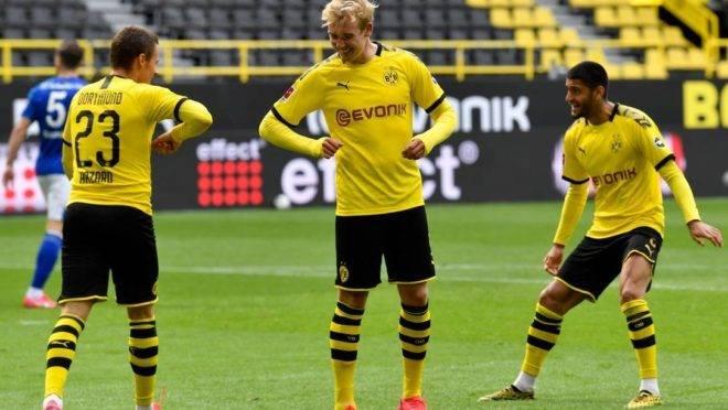 Borussia goleou no seu retorno ao campeonato alemão.