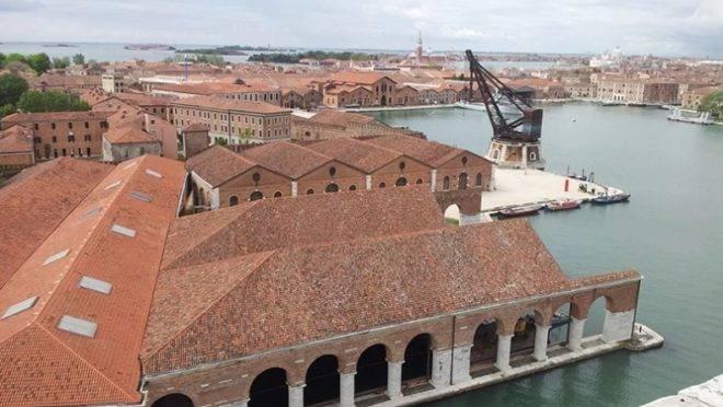 Um dos espaços da Bienal de Arquitetura de Veneza, que foi adiada para 2021.