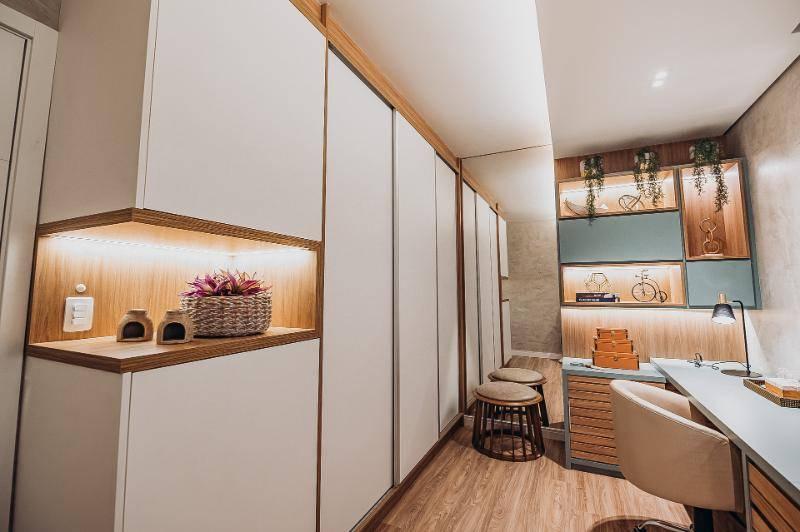 Projeto assinado pela designer de interiores Bruna Justi.