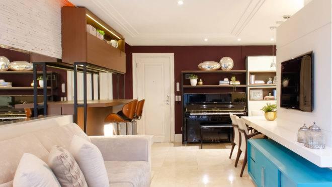 Projeto de reforma de Ana Cristina Ávila para apartamento de 90 metros quadrados incluiu mais cor aos ambientes.