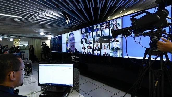 Sessão virtual do Senado.