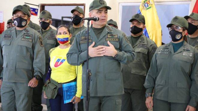 O ministro da Defesa da Venezuela, Vladimir Padrino