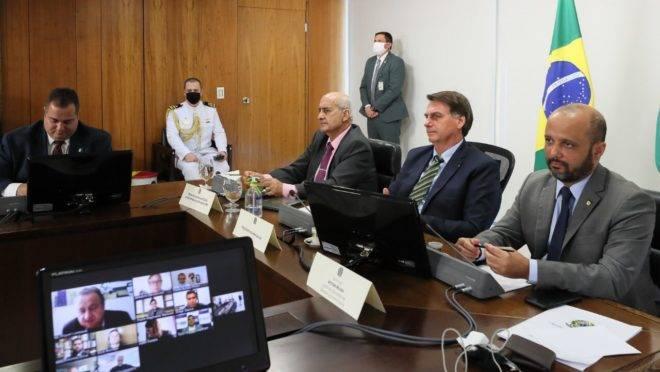 Bolsonaro se reuniu com lideranças católicas por videoconferência