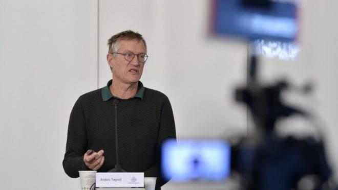 O epidemiologista Anders Tegnell faz atualização diária sobre a situação da Covid-19 na Suécia, 20 de maio. Estudo indica que 7,3% dos moradores de Estocolmo têm anticorpos para o novo coronavírus