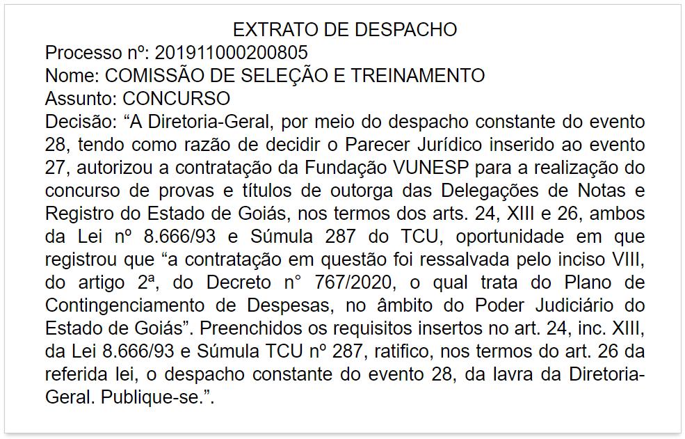 Reprodução do Diário Oficial de Goiás de 13 de maio de 2020
