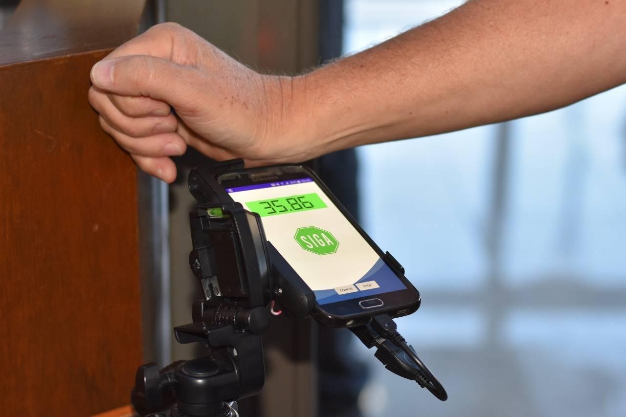 O sistema pode ser implantado em catracas de acesso por exemplo. Foto: Andrea Lombardo/Lactec