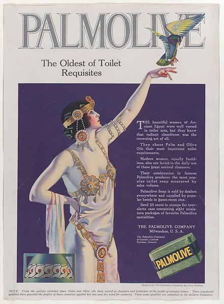 Propaganda da Palmolive, 1921