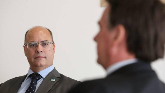 O governador do Rio, Wilson Witzel, e o presidente Jair Bolsonaro