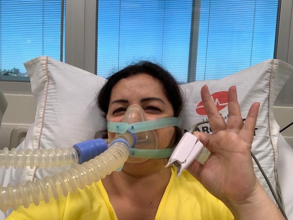 Nilce foi internada com sintomas de falta de ar, que se confundiam com a Covid-19, quando na verdade era um quadro de tromboembolia Foto: Arquivo pessoal
