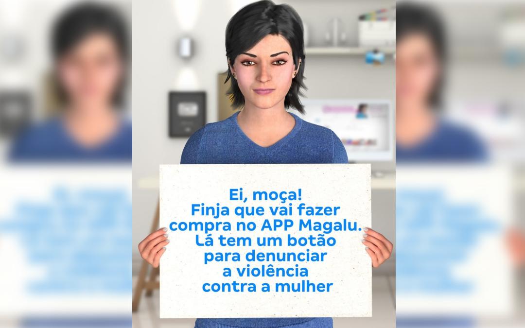 Campanha lançada pelo Magazine Luiza incentiva a denúncia de violência doméstica, que aumentou durante o isolamento social.