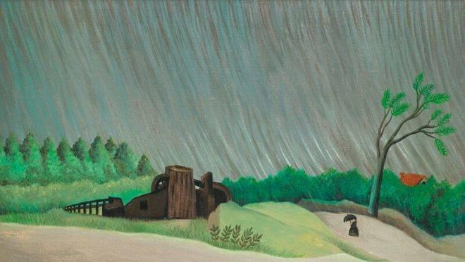 """""""Uma manhã de chuva"""" (c. 1896), de Henri Rousseau."""
