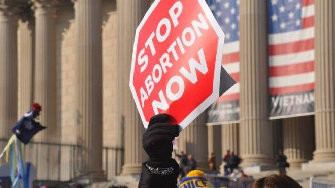 Protesto nos Estados Unidos em prol dos nascituros.