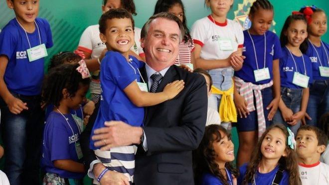 O presidente Jair Bolsonaro, em evento em 17 de abril de 2019.