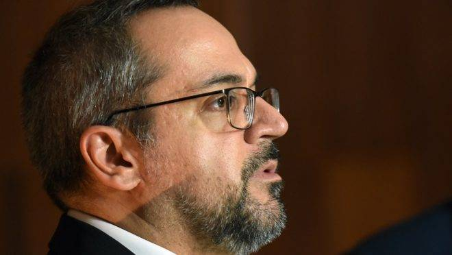 O ministro da Educação Abraham Weintraub.