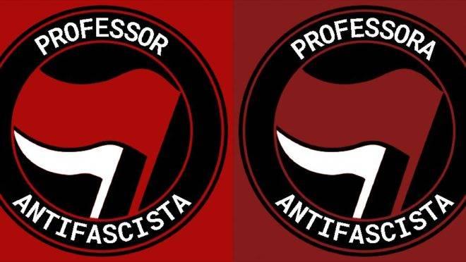 """A resposta violenta autodenominada antifascista, ou """"antifa"""", explodiu, com adesão de dezenas de professores universitários, que rechearam seus perfis com o selo de """"Professor Antifascista"""" e propostas violentas para """"resolver o Brasil""""."""