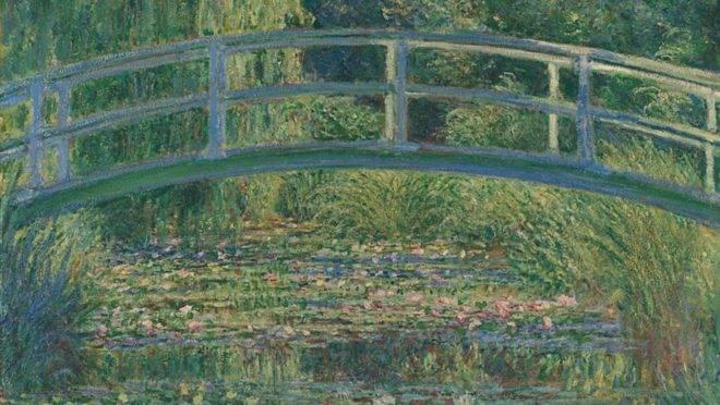 """""""O lago com nenúfares, harmonia verde"""" (1899), de Monet."""