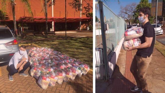 A gincana solidária durou cinco dias e terminou com a arrecadação de 6 toneladas de alimentos e 1,8 mil peças de roupa