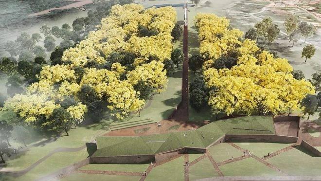 Espaço de memória das vítimas do rompimento da barragem I, em Brumadinho, ficará pronto em 2021.