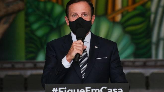 João Doria, governador de São Paulo, determina multa para quem não usar máscara