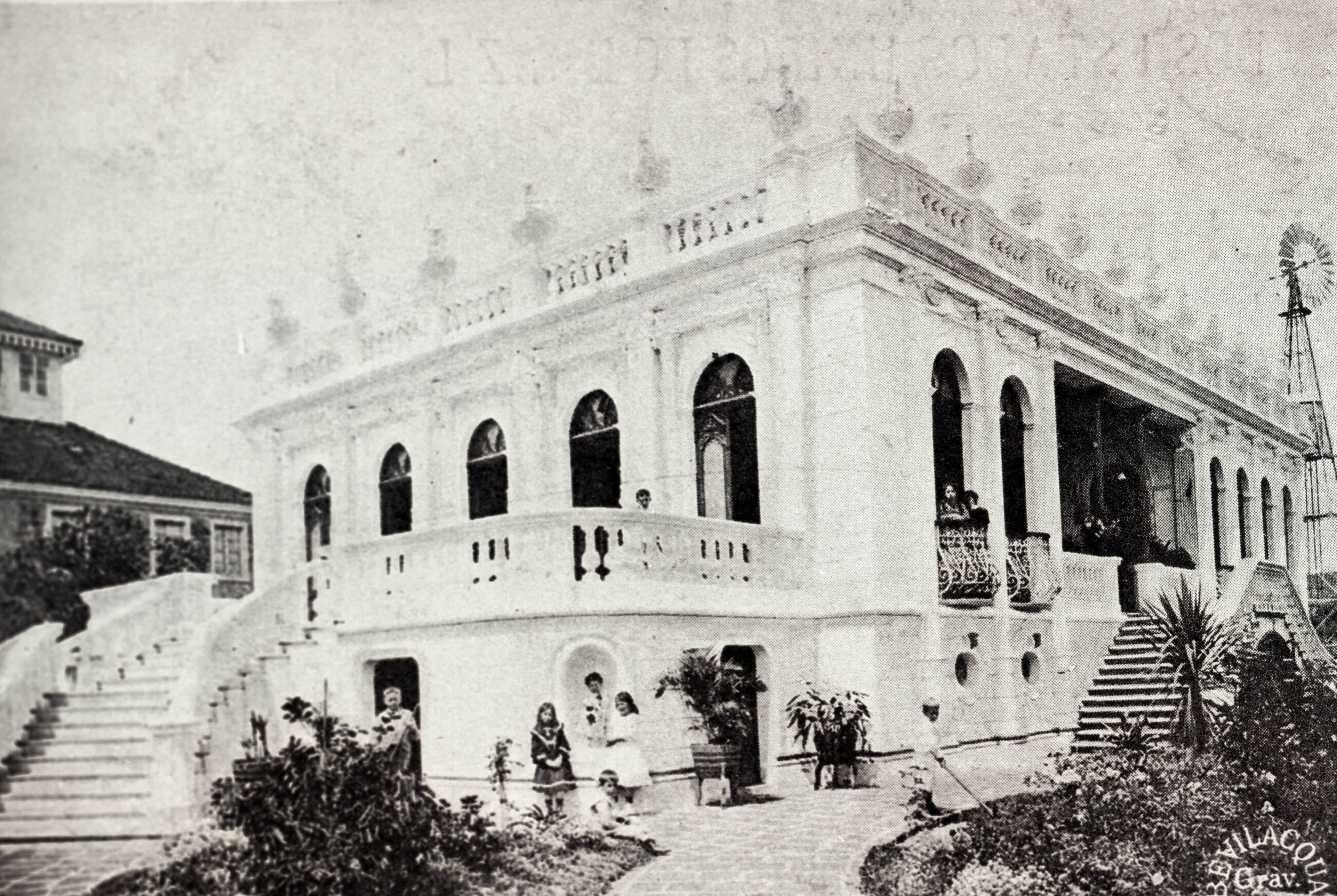 Retrato histórico do Palacete dos Leões. Foto: Divulgação/Fundação Cultural de Curitiba