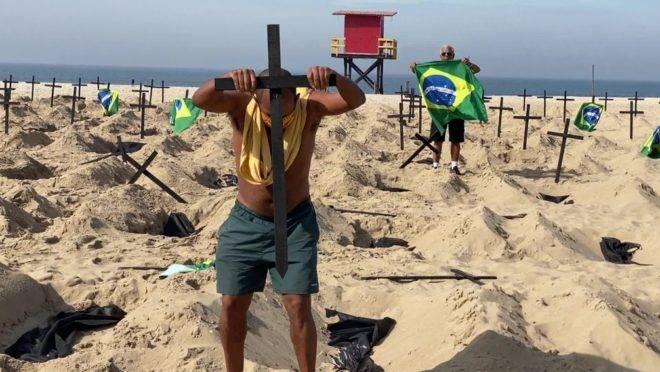 Marco Antônio lamenta a morte de seu filho, Hugo, no RJ (Foto Reprodução)
