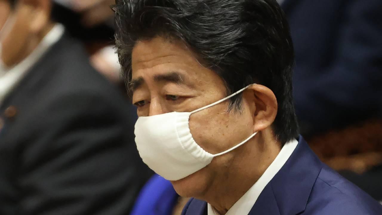 Primeiro-ministro do Japão, Shinzo Abe   FOTO: JIJI PRESS/AFP